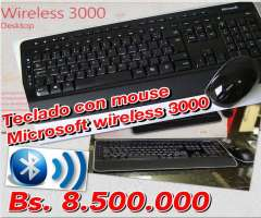 Combo Teclado Mouse Wireless Microsoft 3000 Inalambrico