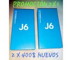 Promocion Samsung J6 2x1