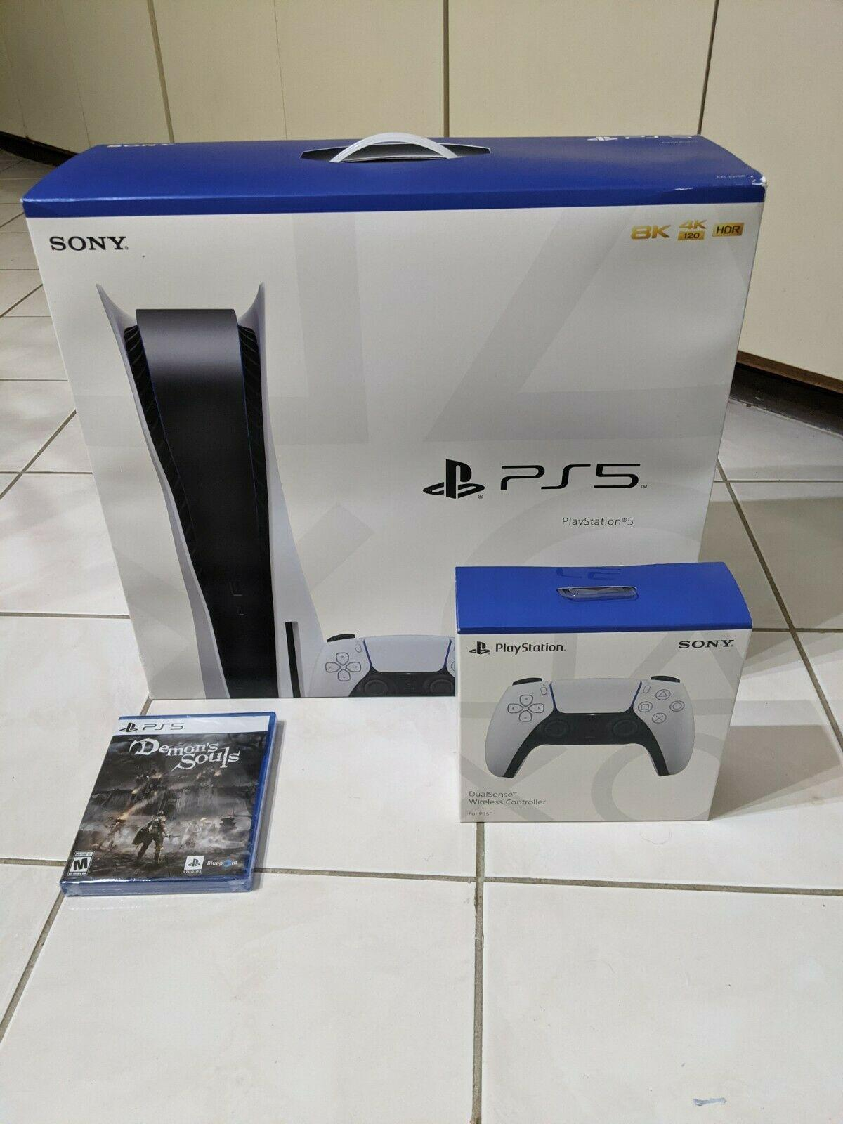 New Sony PlayStation 5 PS5 Console Disc Version Bundle Controller + Demon Souls